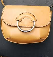 banana republic purse tan vachetta leather mini saddle cross bag 168
