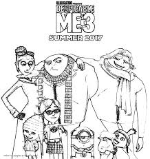 Despicable me 3 coloring pages to print