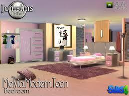 jomsims Melvia modern teen bedroom