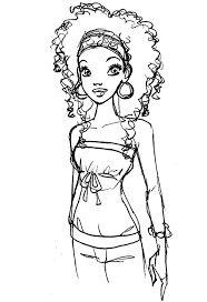 African Woman Coloring Page Bing Images