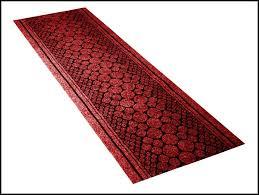 red rug runner kitchen