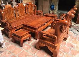 Bộ sưu tập bàn ghế phòng khách gỗ hương đẹp 2018