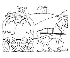 Voertuigen Kleurplaten Paard En Wagen
