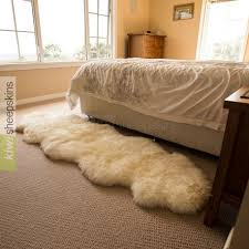double sheepskin rug 2 pelts end to end