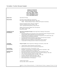 Sample Secondary Teacher Resume Styles Of Writing Essays