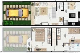 Planta de casas | planta de sobrado geminado, 5m de frente, 3 quartos e varanda gourmet. Sobrado Pequeno 35 Ideias De Projetos Para Voce Construir