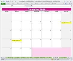 Calendar Templates Microsoft Office Georges Excel Calendar Year 2019 Microsoft Office Excel