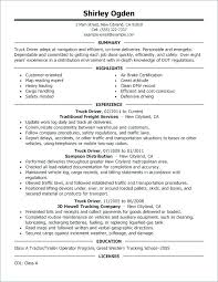 Route Driver Resume Route Driver Resume Table Truck Driver Resume