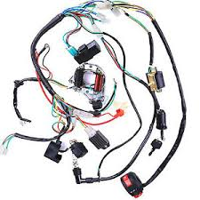 50cc 125cc wire loom wiring harness cdi assembly chinese atv quad Wiring Harness Connectors image is loading 50cc 125cc wire loom wiring harness cdi assembly