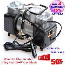 Bình nén khí mini - máy bơm hơi 12v mini áp suất cao. bơm hơi ôtô, xe máy,  xe đạp mã lực lớn, công suất đạt 120w, dễ dàng sử dụng. bảo