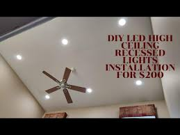 how to install led recessed lighting on