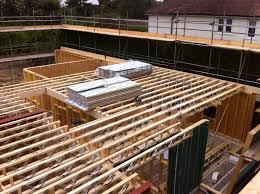 timber open metal web floor joists