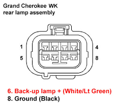 jeep grand cherokee wk factory rear park assist system 2005 jeep grand cherokee stereo wiring harness at 2005 Jeep Grand Cherokee Tail Light Wiring Harness
