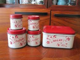 metal kitchen canisters vintage tin six piece canister set square metal kitchen canisters