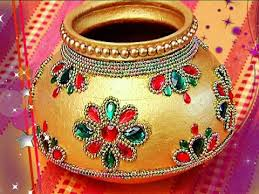 Pot Decoration Designs Designer Marriage Pot Garika muntha Decoration Marriage items 4