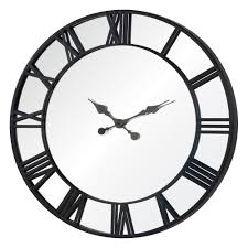 ... Clocks, Stunning Giant Outdoor Wall Clock Large Outdoor Wall Clock With  Thermometer Round Black Metal ...