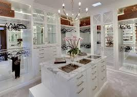 luxury walk in closet with mirror