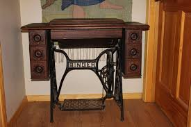 Treadle Sewing Machine Cabinet 1900s Singer Treadle Sewing Machine In Original Oak Cabinet