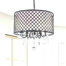 drum shade chandelier with crystals of light