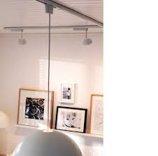 used track lighting. Close-up Of IKEA 365+ Track Lighting System Used Over Desk R