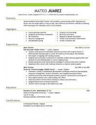 Teaching Resume Template Free Fascinating Teacher Resume Template Free Best Cover Letter Resume Templates