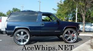 Tahoe chevy 2 door tahoe : 30 Inch Rims On Impala | Ace-1: WTW Customs- 2DR Chevy Tahoe on 30 ...