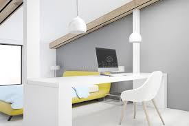 download design home office corner. Download Gray Attic Bedroom, Home Office, Corner Stock Illustration - Of Living, Design Office