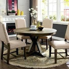 furniture of america cooper rustic light oak round 54 inch 54 inch round pedestal dining