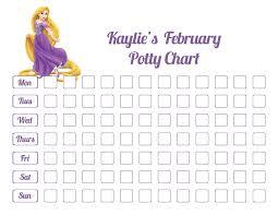 Potty Training Chart For Girls Printable Princess Potty Training Chart Download Them Or Print
