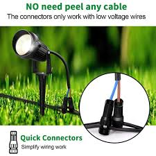 low voltage landscape lights wire
