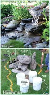 low maintenance water fountain instruction landscaping ideas projects diy rock homemade fountains