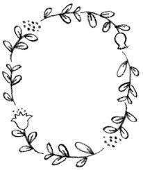 おしゃれな植物の手書きフレーム えんぴつと画用紙