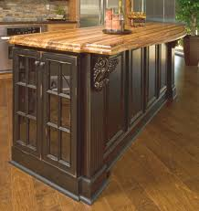 Primitive Kitchen Furniture Vintage Onyx Distressed Finish Kitchen Cabinets Painted Black With
