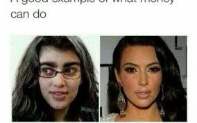 kim kardashian claims por kim without makeup meme