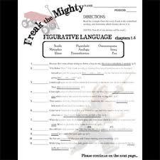freak the mighty figurative language analyzer quotes tpt freak the mighty figurative language analyzer 96 quotes