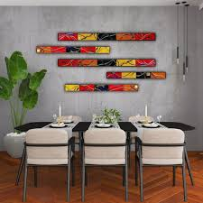 large abstract wall art set of 5 made