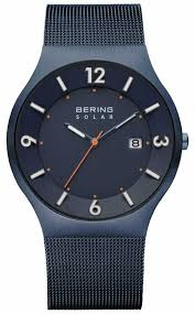 bering watches official uk retailer first class watches bering mens solar blue milanese mesh strap 14440 393