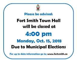 Closing Early Sign Template Town Hall Closing Early On Oct 15 2018 Town Of Fort Smith