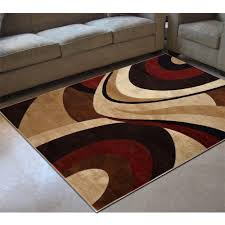 red and brown area rug designs
