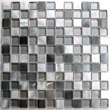 glass ceramic tile mosaic for bathroom and shower glass and aluminum heho13 80 length