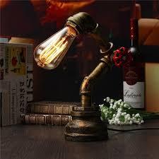 vintage bronze desk lamp. Delighful Desk Vintage Industrial Table Light Water Pipe Retro Lamp E27 Bronze Desk  110240V To A