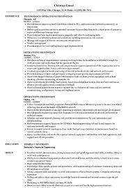 Operations Technician Resume Samples Velvet Jobs