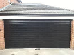 after installed double sectional garage door