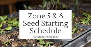 Seed Starting Chart Zone 6 Zone 5 6 Seed Starting Schedule Our Stoney Acres