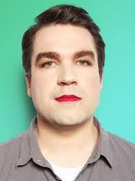man wearing makeup experiment