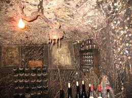 the tasting area of the clos rougeard cave