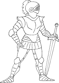 Elegant Knight Coloring Pages 95 For Your Coloring Print With