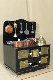 miniature doll furniture. antique miniature childs dollhouse kitchen tin stove u0026 cookware nr doll furniture r