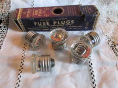 old metal industrial panel fuse box west trumbull gray art deco vintage box of 5 pyrex fuse plugs ge 15 amp general electric new old stock