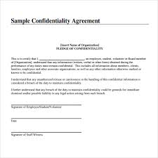 confidentiality agreement template sample confidentiality agreement sample of confidentiality free